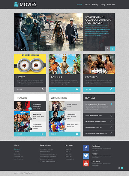 20+ Top Selling and Free Wordpress Themes For Movies and Film ...